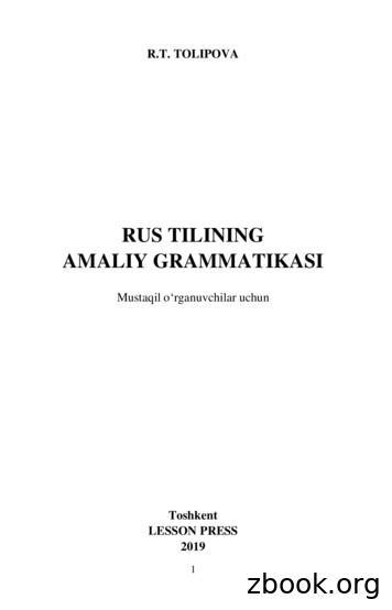 RUS TILINING AMALIY GRAMMATIKASI