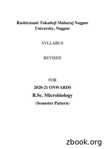 B.Sc. Microbiology - Nagpur University
