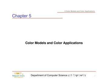Color Models and Color Applications