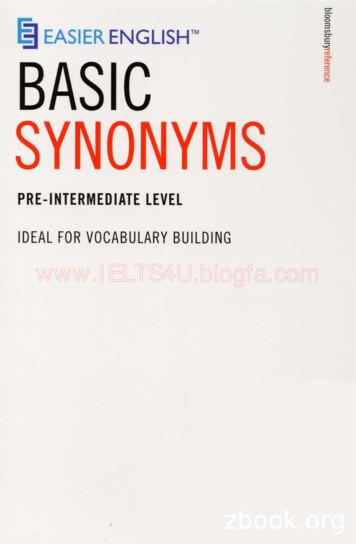Easier English Basic Synonyms - ielts-house