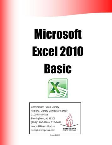 Microsoft Excel 2010 Basic - WordPress