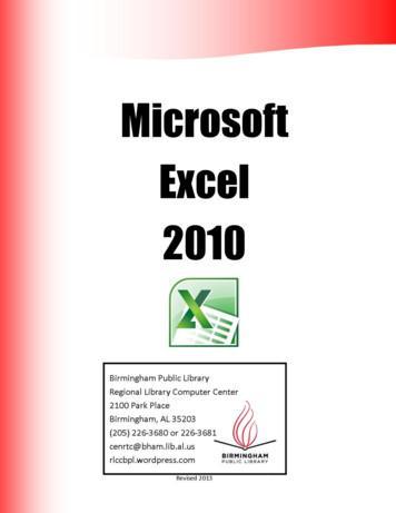 Microsoft Excel 2010 - WordPress
