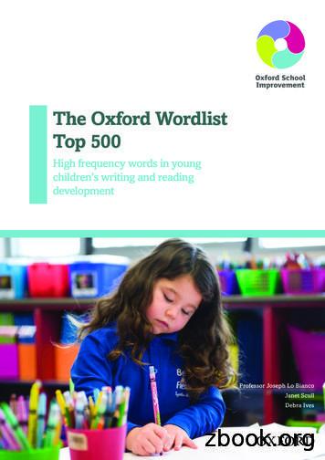 The Oxford Wordlist Top 500 - Oxford University Press