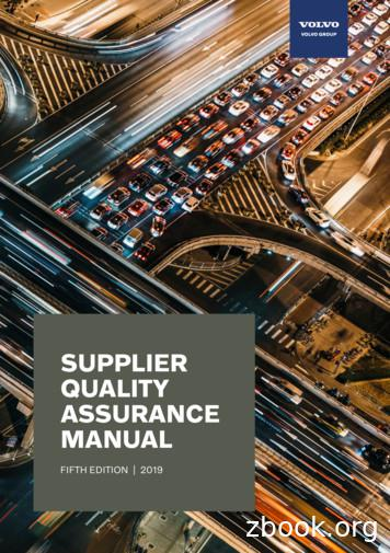 SUPPLIER QUALITY ASSURANCE MANUAL - Volvo Group