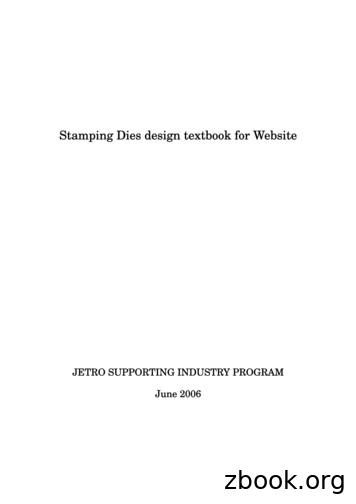 Stamping Dies design textbook for Website