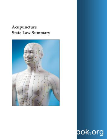 Acupuncture State Law Summary