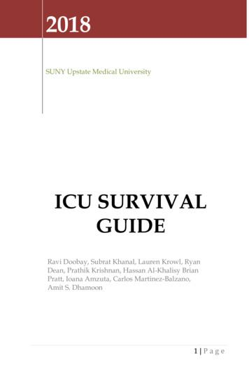 ICU Survival guide - Upstate Medical University