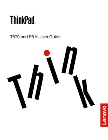 T570 and P51s User Guide - Lenovo