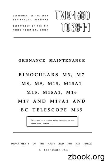 DEPARTMENT OF THE ARMY TM 9-1580 TECHNICAL MANUAL .