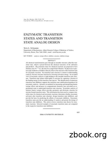 ENZYMATIC TRANSITION STATES AND TRANSITION STATE ANALOG DESIGN