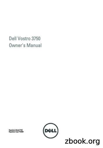 Dell Vostro 3750 Owner's Manual