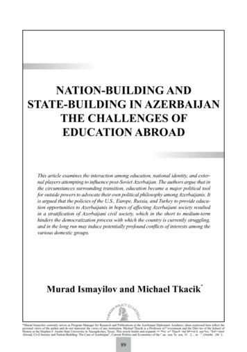 NATION-BUILDING AND STATE-BUILDING IN AZERBAIJAN THE .