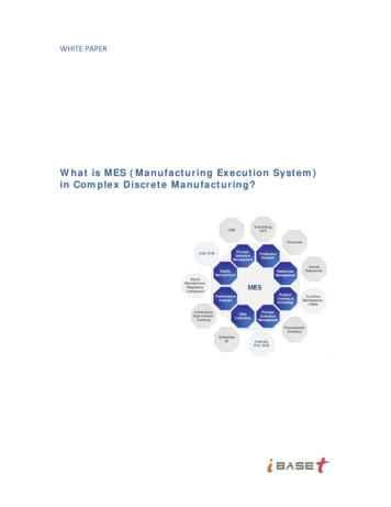 What is MES (Manufacturing Execution System) in Complex .