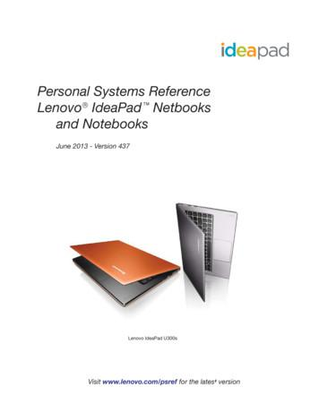 Personal Systems Reference Lenovo IdeaPad Netbooks and .