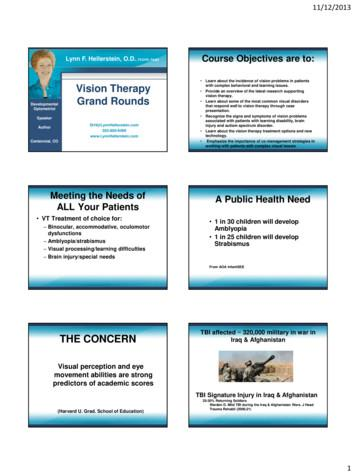 Vision Therapy Thank You! Grand Rounds