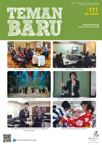 JAPAN FOUNDATION KUALA LUMPUR BIMONTHLY NEWSLETTER ISSUE 111