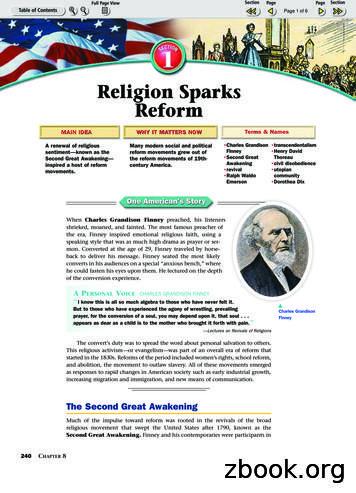 Religion Sparks Reform - Matthew Caggia