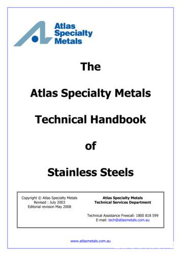 The Atlas Specialty Metals Technical Handbook of Stainless .