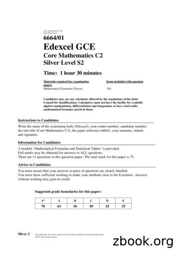 londonnews247 Paper Reference(s) 6664/01 Edexcel GCE