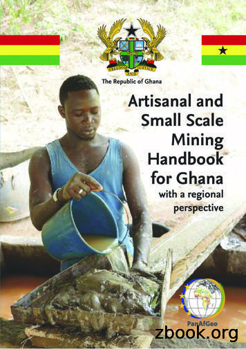Artisanal and Small-Scale Mining Handbook of Ghana
