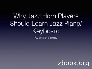 Jazz Piano for Horn Players - Clearwater Jazz Holiday