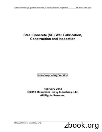 Steel Concrete (SC) Wall Fabrication, Construction and .
