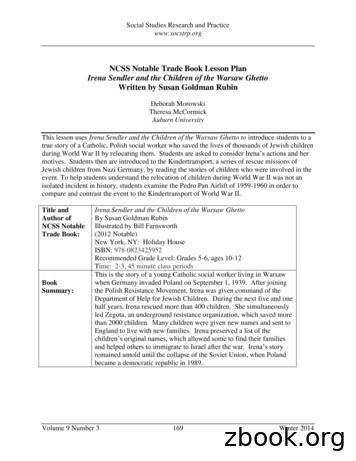 NCSS Notable Trade Book Lesson Plan Irena Sendler and the .