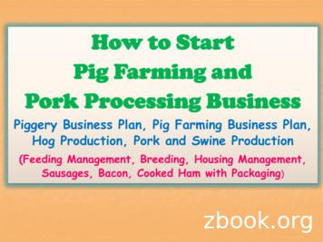 How to Start Pig Farming and Pork Processing Business
