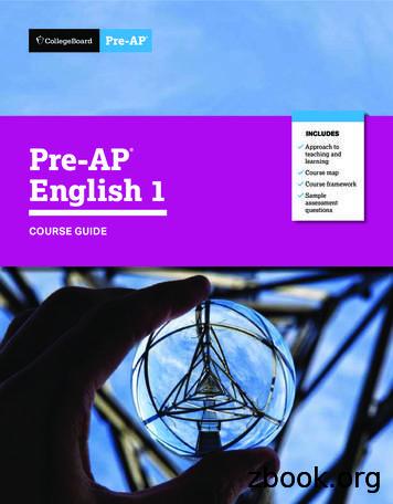 Pre-AP English 1 Course Guide
