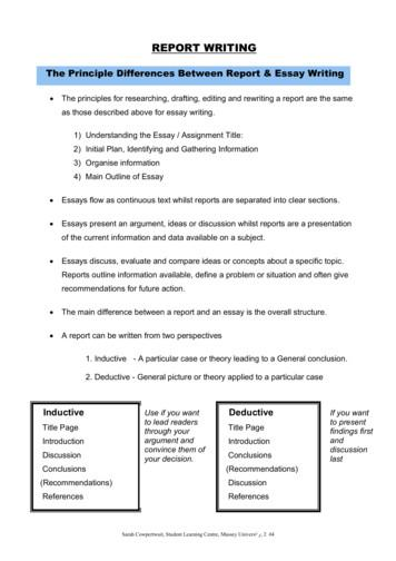Report Writing - Massey University
