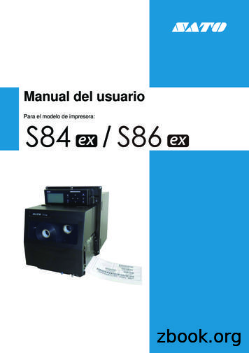 Manual del usuario - SATO Europe