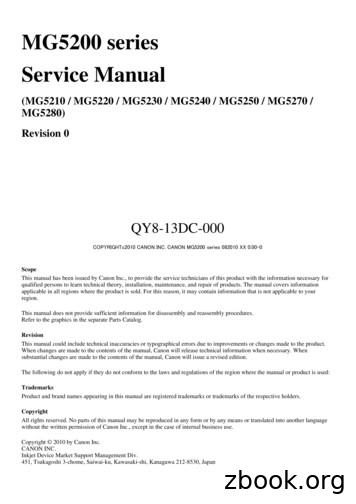 MG5200 series Service Manual - CommentReparer