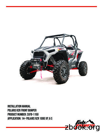 Application: 14 polaris RZR 1000 XP, & S