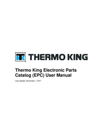 Thermo King Electronic Parts Catalog (EPC) User Manual