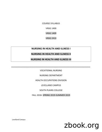 NURSING IN HEALTH AND ILLNESS I NURSING IN HEALTH AND .