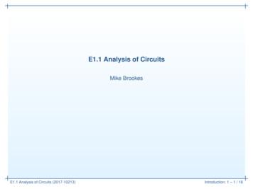 E1.1 Analysis of Circuits