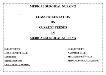 MEDICAL SURGICAL NURSING CLASS PRESENTATION ON CURRENT .