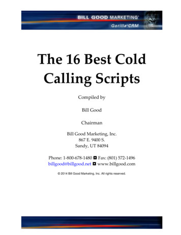 The 16 Best Cold Calling Scripts - Bill Good Marketing