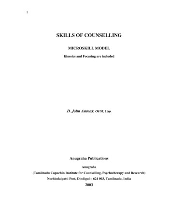 Skills of Counselling - The Fountain