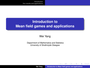 Introduction to Mean field games and applications