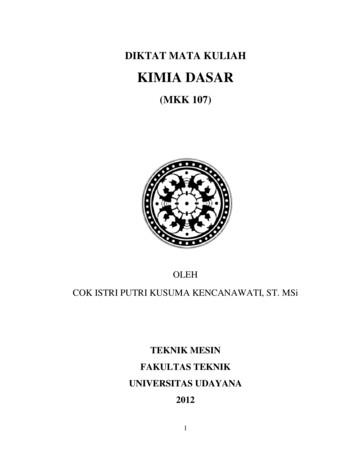 KIMIA DASAR - Universitas Udayana