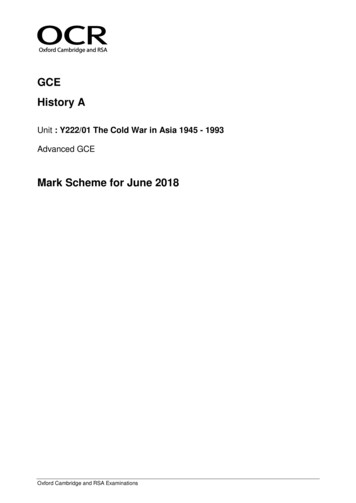 GCE History A - Revision World
