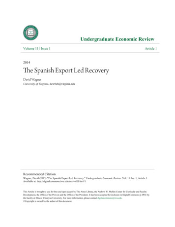 The Spanish Export Led Recovery - CORE