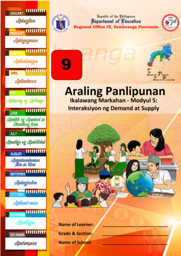 Z P Araling Panlipunan