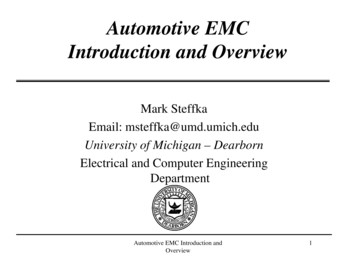 Automotive EMC Introduction and Overview