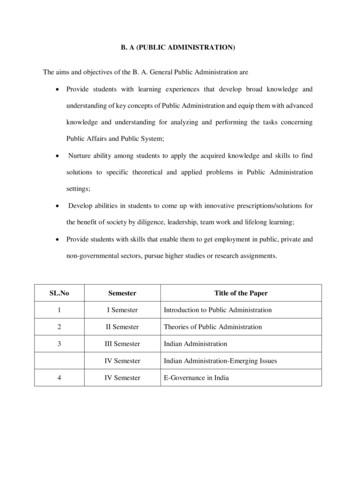 B. A (PUBLIC ADMINISTRATION) - Krishna University