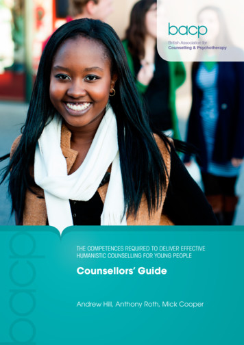 Counsellors' Guide - British Association for Counselling .