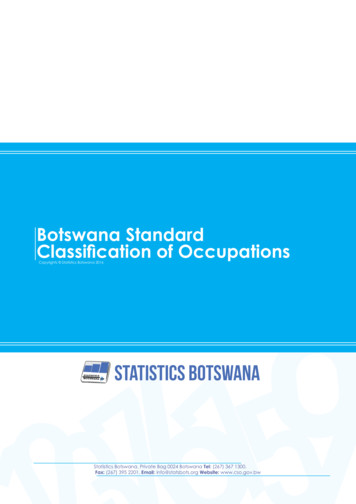 Botswana Standard Classification of Occupations