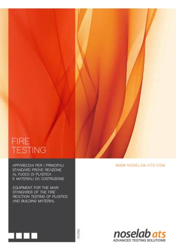 fire testing - Noselab Ats