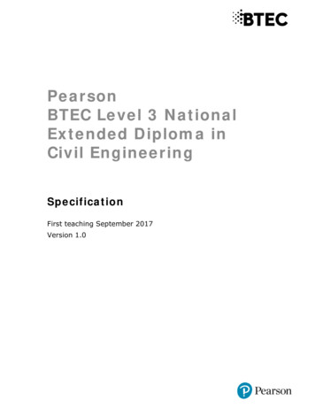 Pearson BTEC Level 3 National Extended Diploma in Civil .